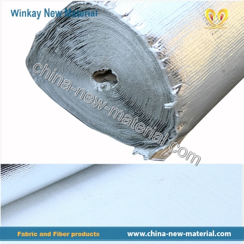 Ceramic fiber cloth covered with aluminum foil