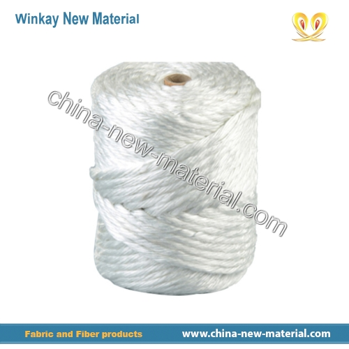 Fiberglass bulked yarn twisted rope